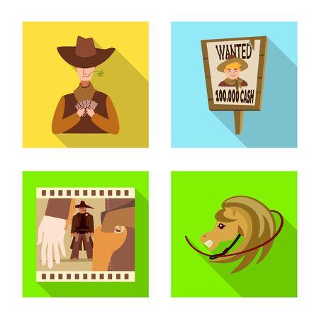 Diseño vectorial de texas y símbolo de la historia. Colección de texas y cultura vector icono de stock.
