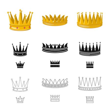 Isolated object of medieval and nobility icon. Collection of medieval and monarchy vector icon for stock. Ilustracja
