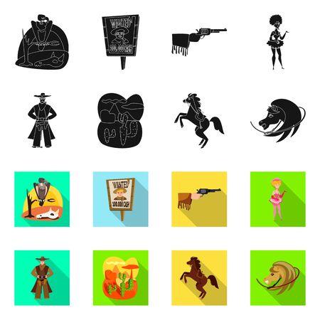 Diseño vectorial del logotipo de texas e historia. Colección de iconos vectoriales de texas y cultura para stock.