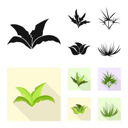 Isolated object of landscaping and summer icon. Set of landscaping and environment stock vector illustration. Illustration