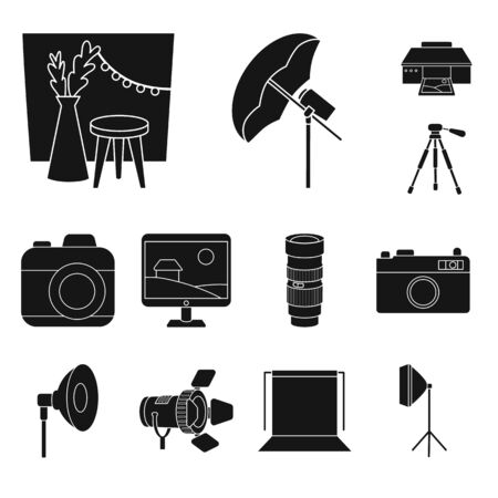 Vector design of business and hobbies symbol. Collection of business and photo vector icon for stock.