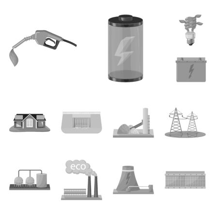Isolated object of renewable and environment icon. Set of renewable and organic vector icon for stock.