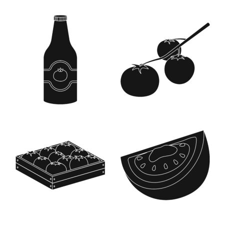 Vector illustration of product and natural icon. Set of product and food stock vector illustration.