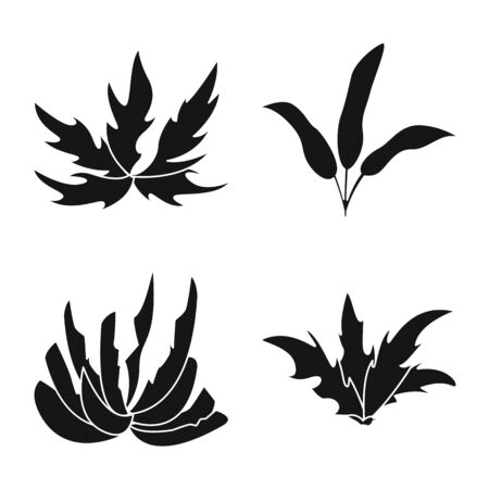 Vector illustration of nature and environment symbol. Set of nature and grass vector icon for stock. Illustration