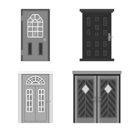 Vector illustration of building and office logo. Collection of building and modern vector icon for stock. Ilustração