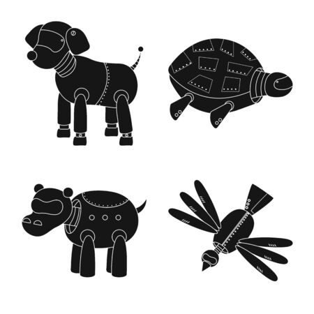 Isolated object of toy and toy sign. Collection of toy and mechanism vector icon for stock. Ilustração