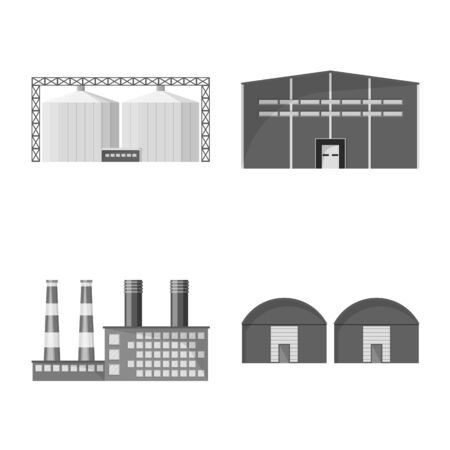 Vector illustration of production and structure symbol. Set of production and technology stock symbol for web.