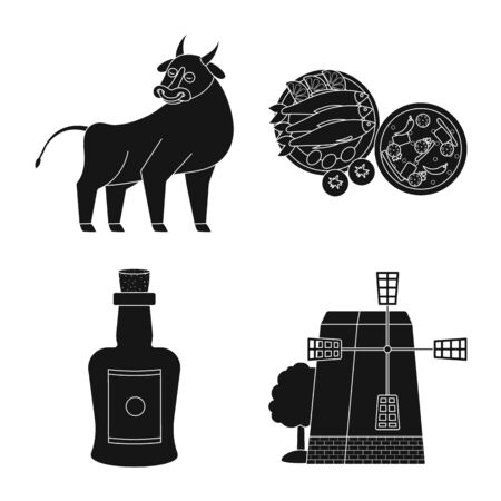 Vector design of and country logo. Collection of and Portugal vector icon for stock. Illustration