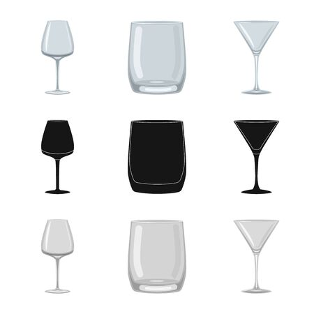 Isolated object of form and celebration sign. Collection of form and volume vector icon for stock.  イラスト・ベクター素材
