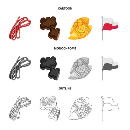 Isolated object of traditional and tour symbol. Collection of traditional and landmarks vector icon for stock.