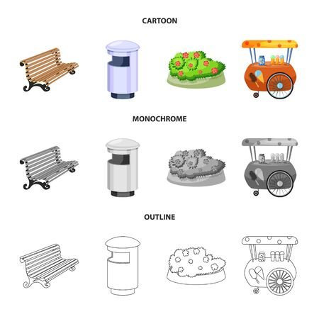 Isolated object of urban and street icon. Set of urban and relaxation vector icon for stock.