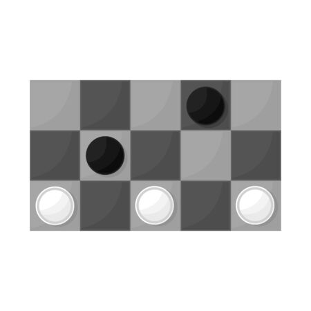 Vector illustration of game and checker symbol. Collection of game and strategy vector icon for stock.