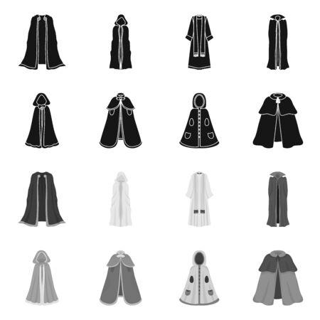 Projekt wektor ikona materiału i odzieży. Kolekcja materiałów i odzieży Stockowa ilustracja wektorowa. Ilustracje wektorowe