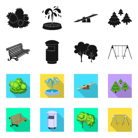 Isolated object of urban and street icon. Collection of urban and relaxation stock symbol for web. Illustration