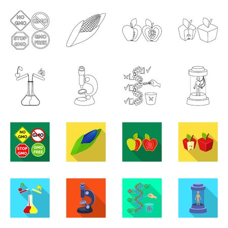 Vector illustration of test and synthetic sign. Set of test and laboratory vector icon for stock.  イラスト・ベクター素材