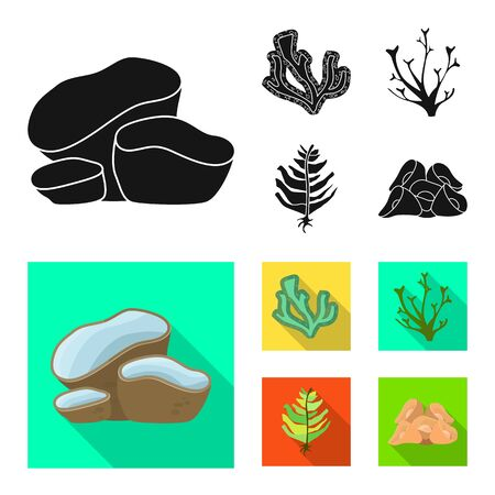 Vector illustration of biodiversity and nature symbol. Set of biodiversity and wildlife stock symbol for web.