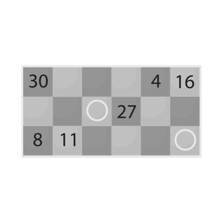 Vector illustration of game and bingo icon. Set of game and lotto vector icon for stock.