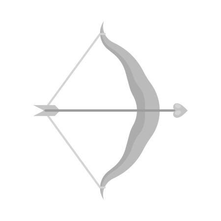 Isolated object of arrow and amour symbol. Collection of arrow and love vector icon for stock. Ilustração