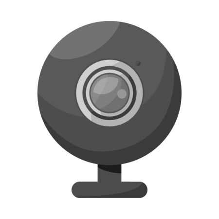 Vector design of webcam and video. Set of webcam and chat vector icon for stock. Vector Illustration