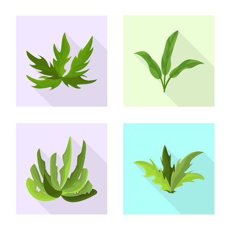 Isolated object of landscaping and summer symbol. Collection of landscaping and environment vector icon for stock. Иллюстрация