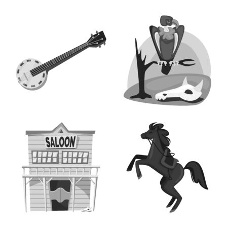 Vector illustration of ranch and farm icon. Collection of ranch and history stock vector illustration.