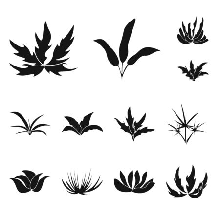 Isolated object of nature and environment icon. Set of nature and grass vector icon for stock.