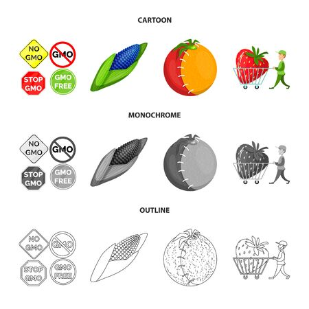 Vector design of test and synthetic logo. Set of test and laboratory stock symbol for web. Ilustracja