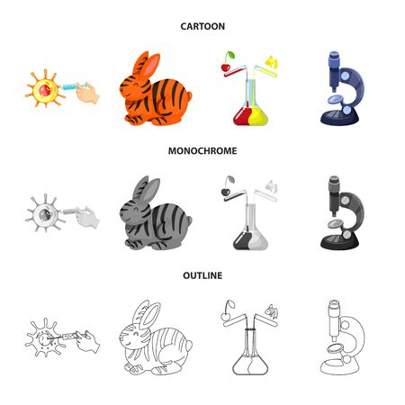 Isolated object of test and synthetic sign. Collection of test and laboratory vector icon for stock. 矢量图像