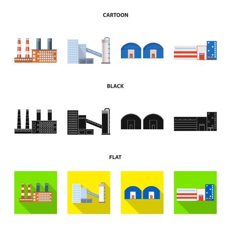 Vector illustration of production and structure sign. Collection of production and technology vector icon for stock.