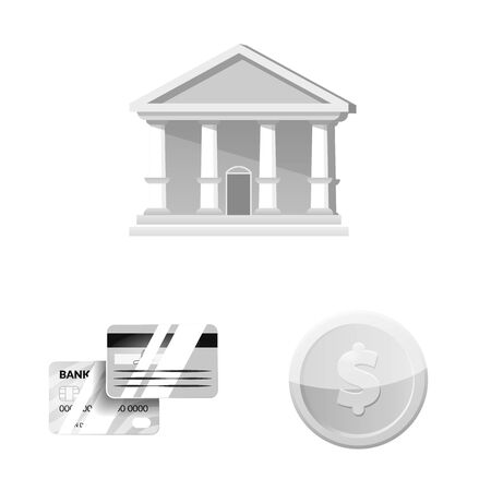 Vector design of bank and money icon. Set of bank and bill stock symbol for web. Stockfoto - 129227534