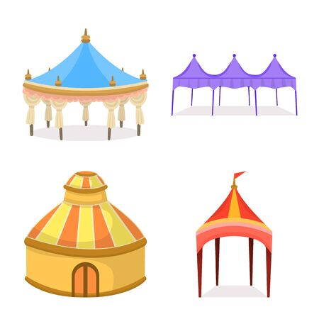 Vector illustration of awning and shelter icon. Collection of awning and canopy stock vector illustration.