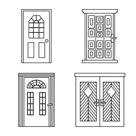 Vector illustration of home and design symbol. Set of home and office vector icon for stock. Stock Illustratie