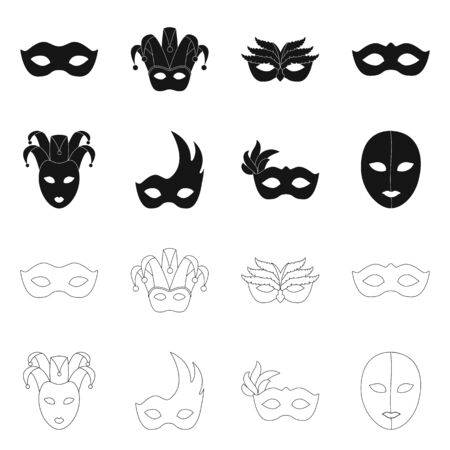 Vector illustration of luxury and celebration icon. Set of luxury and hide stock symbol for web.