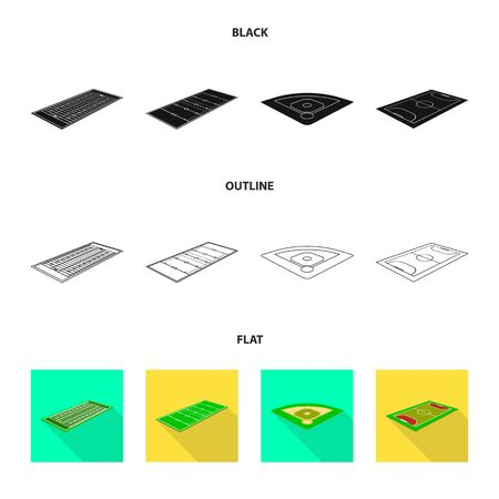 Vector design of playground and sport symbol. Set of playground and scene stock symbol for web. Ilustração