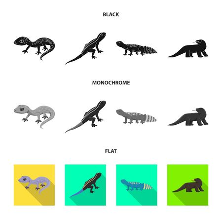 Vector design of tail and fauna sign. Collection of tail and environment stock symbol for web.