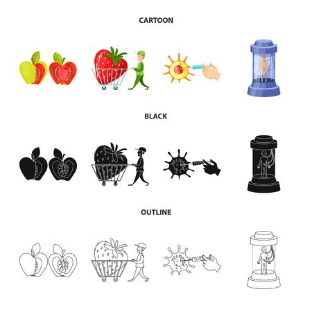 Vector illustration of test and synthetic icon. Collection of test and laboratory stock vector illustration. Ilustração