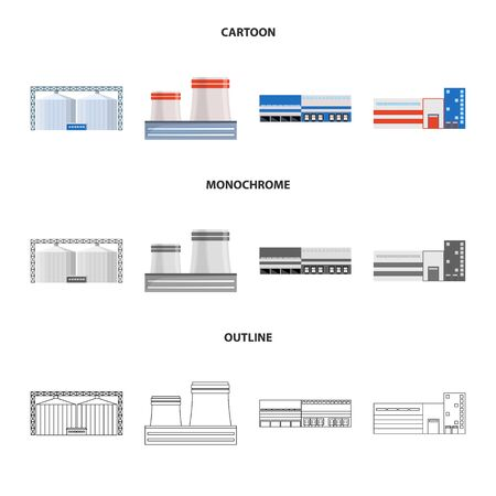 Vector illustration of production and structure icon. Set of production and technology vector icon for stock.