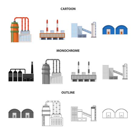 Vector illustration of production and structure sign. Collection of production and technology stock vector illustration. Standard-Bild - 128811150