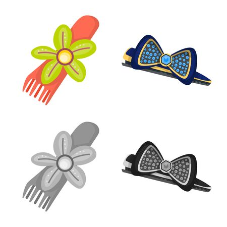 Isolated object of beauty and fashion icon. Collection of beauty and female vector icon for stock.