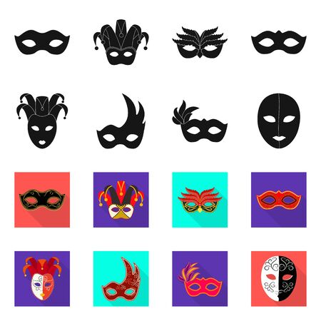Isolated object of luxury and celebration symbol. Set of luxury and hide vector icon for stock. Çizim