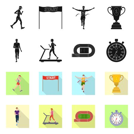 Isolated object of sport and winner symbol. Collection of sport and fitness stock vector illustration. Stock Illustratie