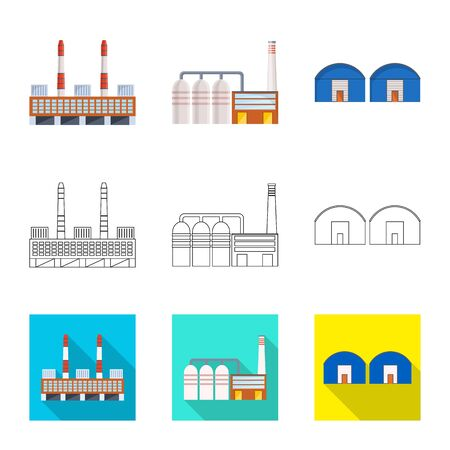 Isolated object of production and structure sign. Collection of production and technology vector icon for stock. Standard-Bild - 128809495