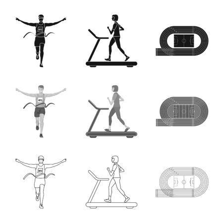 Isolated object of sport and winner  . Collection of sport and fitness stock symbol for web. Illustration