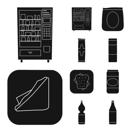Vector illustration of retail and assortment icon. Collection of retail and service stock vector illustration.