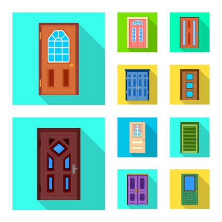 Vector illustration of architecture and modern icon. Collection of architecture and construction vector icon for stock.