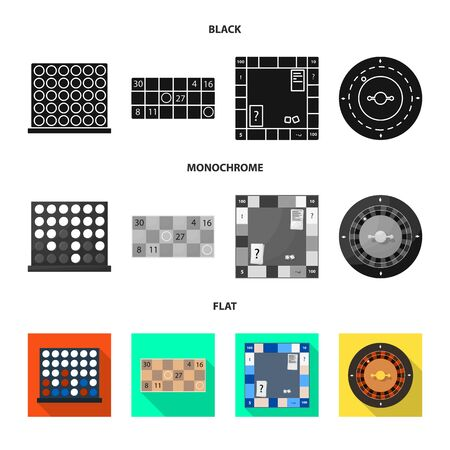 Isolated object of entertainment and competition icon. Collection of entertainment and rivalry vector icon for stock. 일러스트