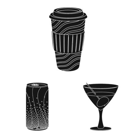 Isolated object of drink and bar icon. Collection of drink and party stock symbol for web. Ilustração