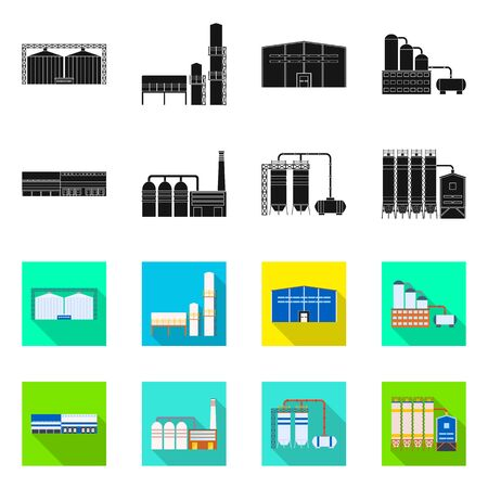 Vector design of production and structure icon. Set of production and technology stock symbol for web. Standard-Bild - 128770601