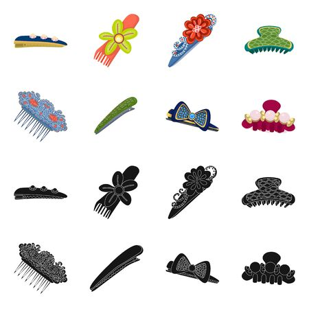 Isolated object of beauty and fashion . Collection of beauty and female vector icon for stock.