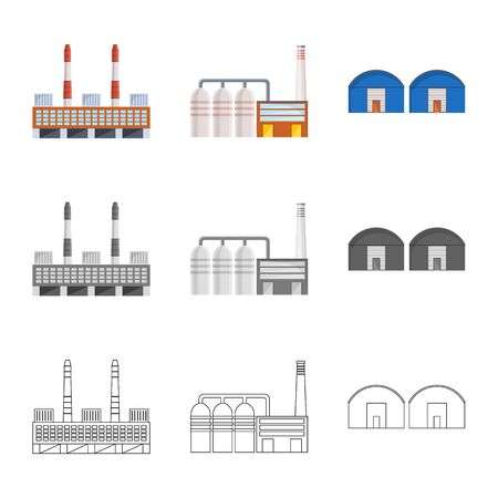 Vector illustration of production and structure icon. Set of production and technology stock vector illustration. Standard-Bild - 128810991
